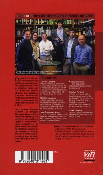 Le guide des meilleurs vins à moins de 20€ (édition 2013)
