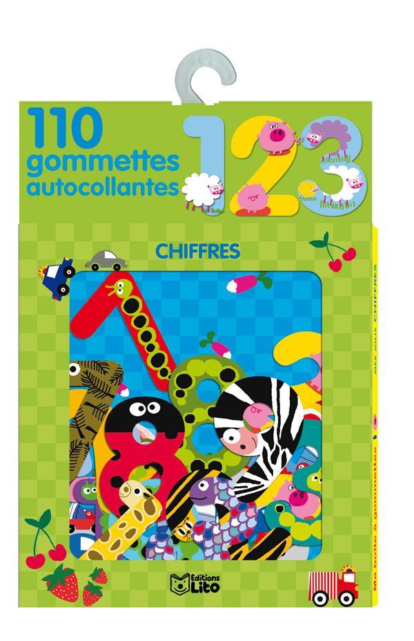 110 Gomettes Autocollantes : Les Chiffres