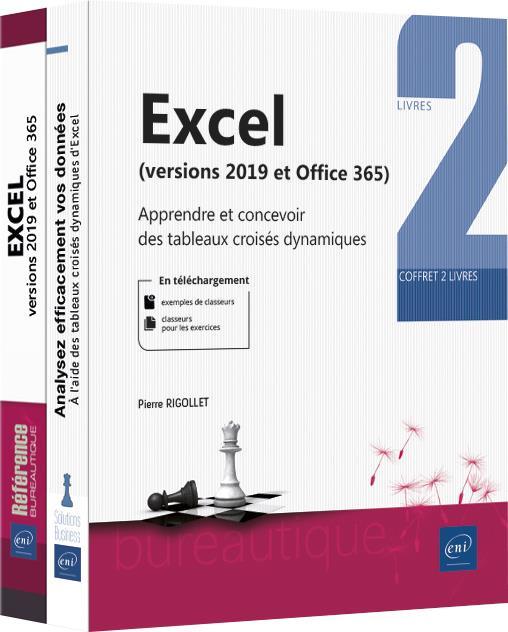 Excel (versions 2019 et Microsoft 365) ; coffret de 2 livres : apprendre et concevoir des tableaux croisés dynamiques