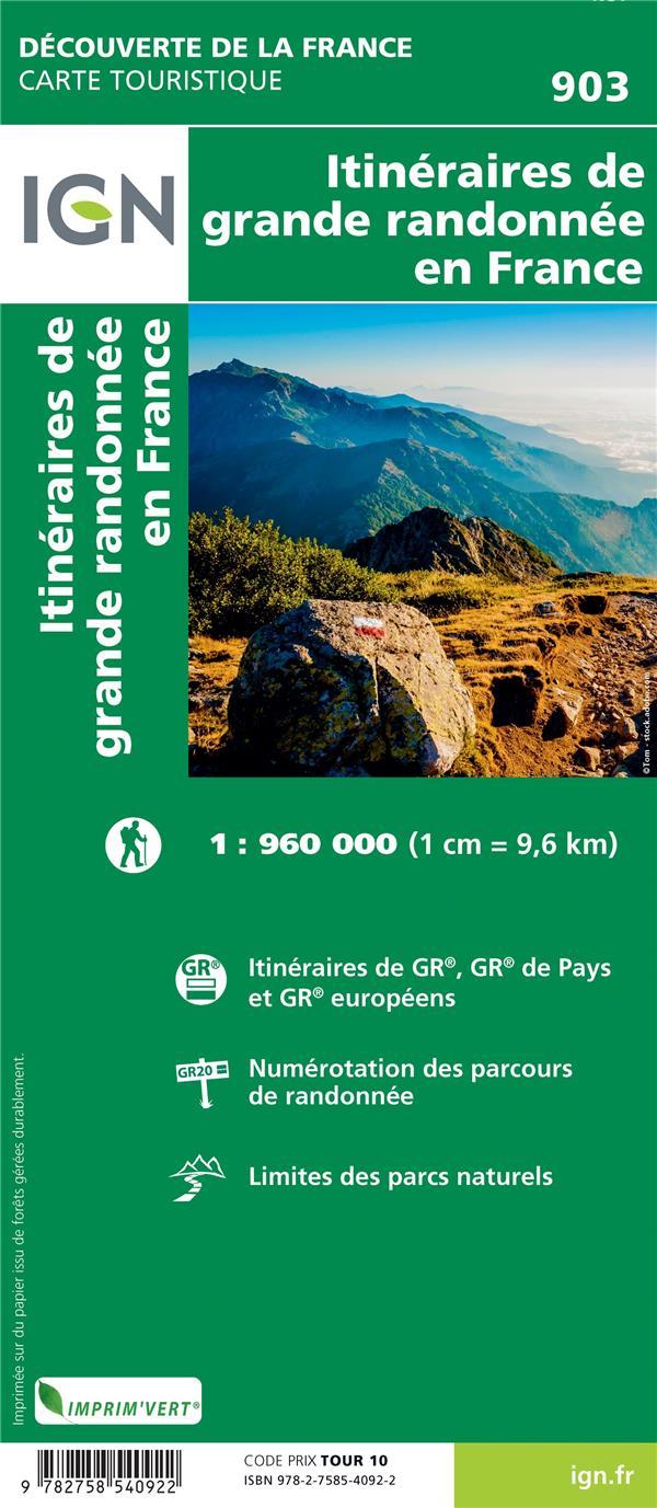 1M903 ; itinéraires de grande randonnée en France (10e édition)