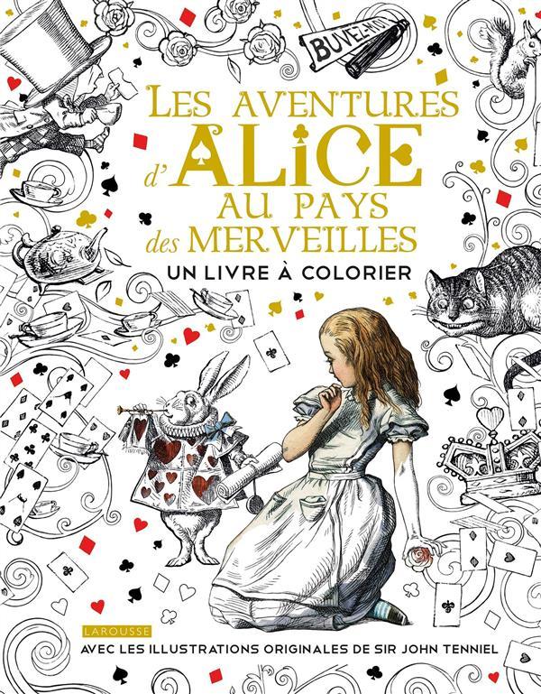 Alice au pays des merveilles ; un livre à colorier