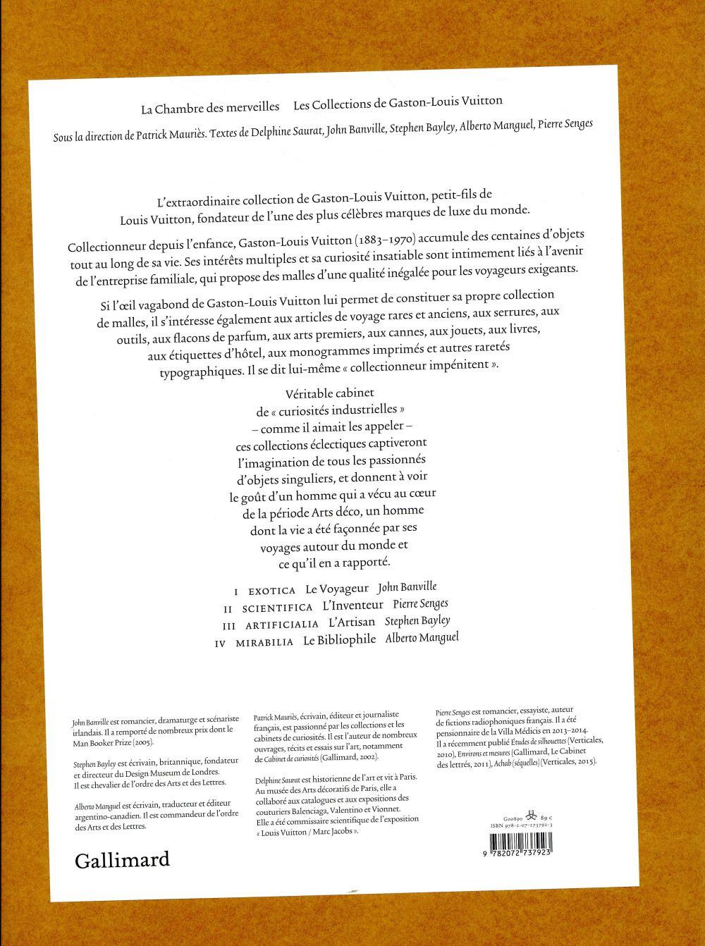 La chambre des merveilles ; les collections de Gaston-Louis Vuitton
