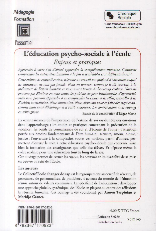 L'éducation psychosociale à l'école ; enjeux et pratiques