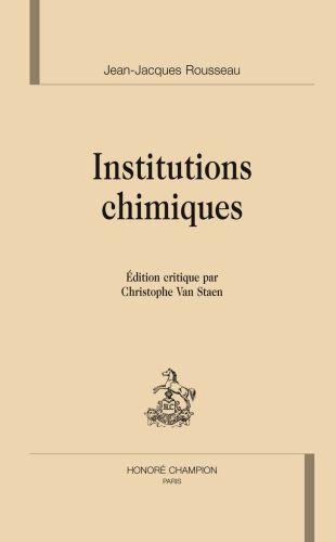Les institutions chimiques