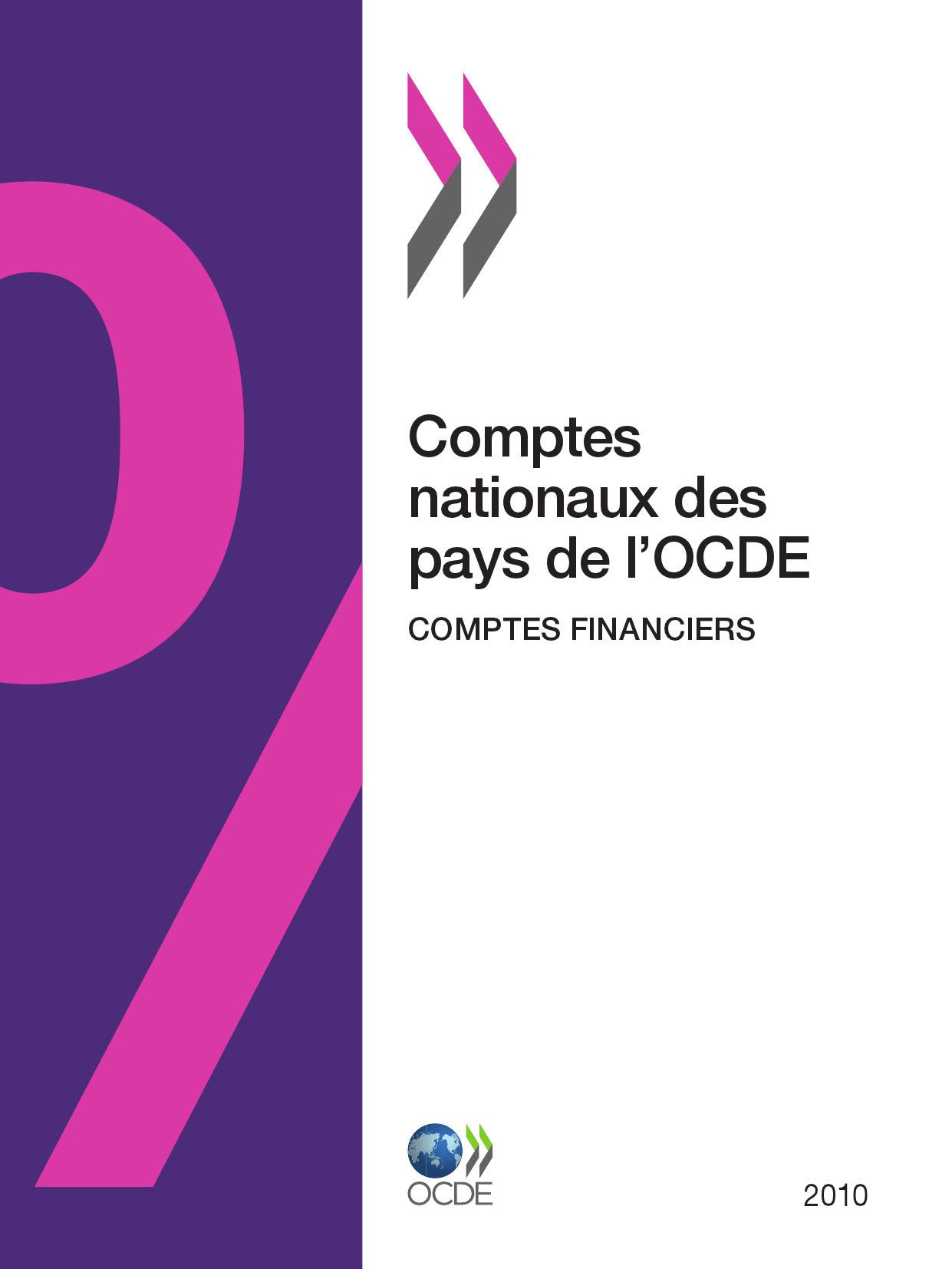 Comptes nationaux des pays de l'OCDE, Comptes financiers 2010