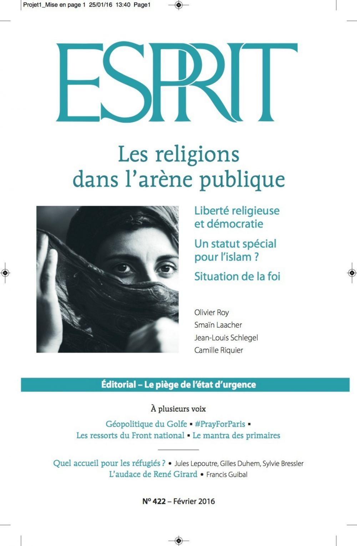 Revue esprit ; les religions dans l'arène publique