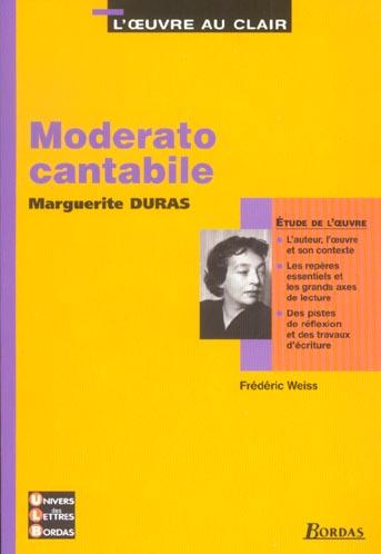 moderato cantabile l'oeuvre au clair