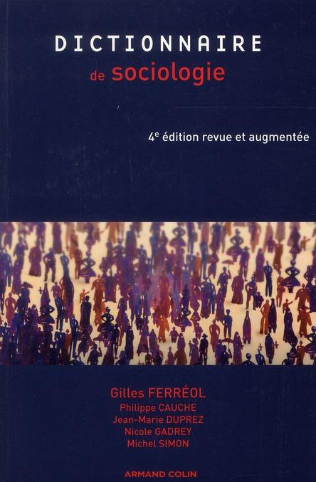 Dictionnaire De Sociologie (4e Edition)