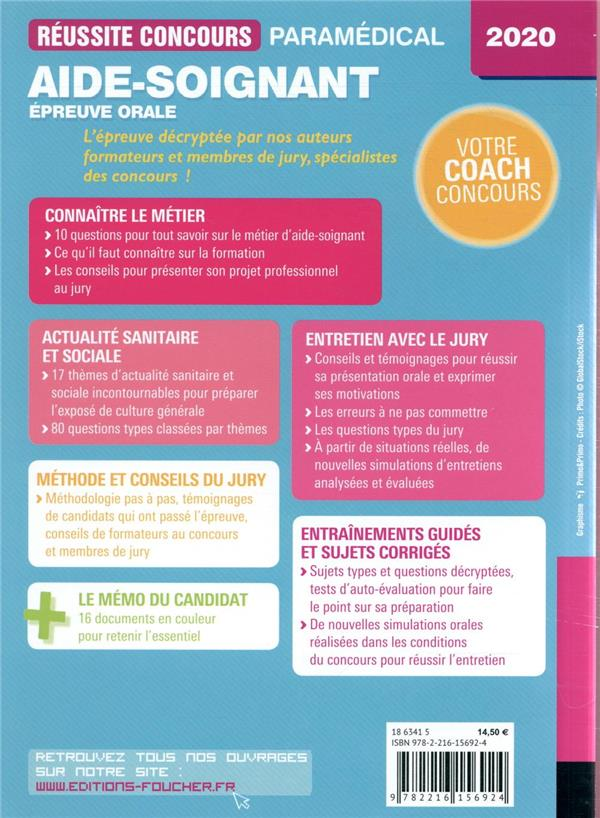 réussite concours ; aide-soignant ; épreuve orale (édition 2020)