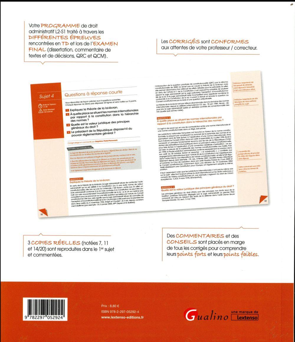 Annales et sujets d'actualité ; droit administratif (édition 2016)