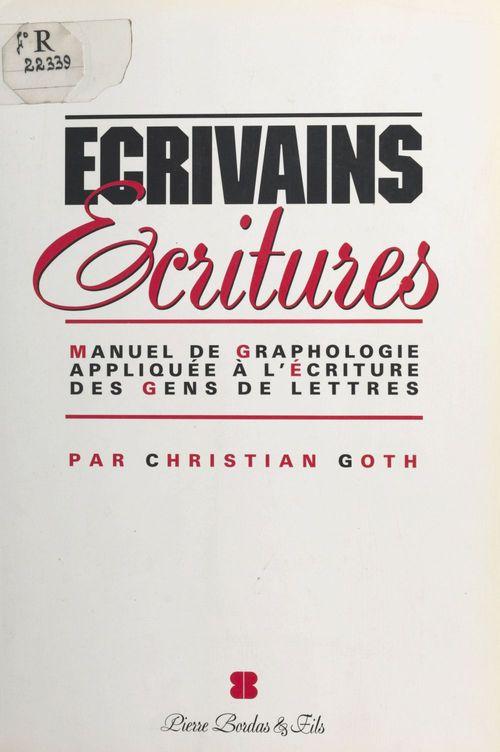 Ecrivains, ecritures