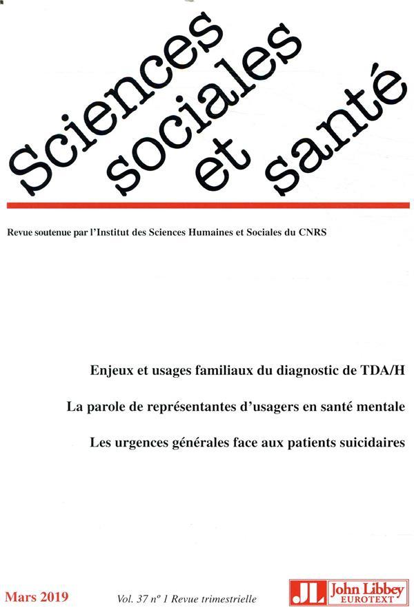 Revue sciences sociales et sante n.37