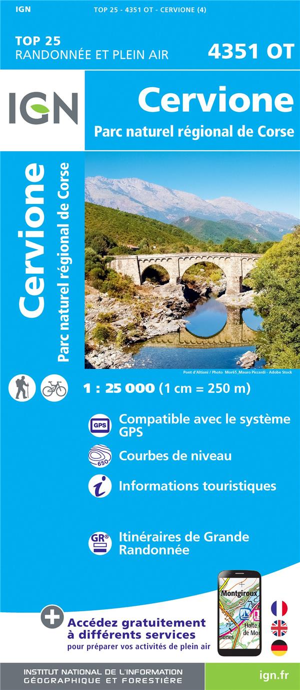 4351ot Cervione Parc Naturel Regional De Corse 4e Edition Collectif Ign Ign Carte Plan Les Cyclades St Cloud