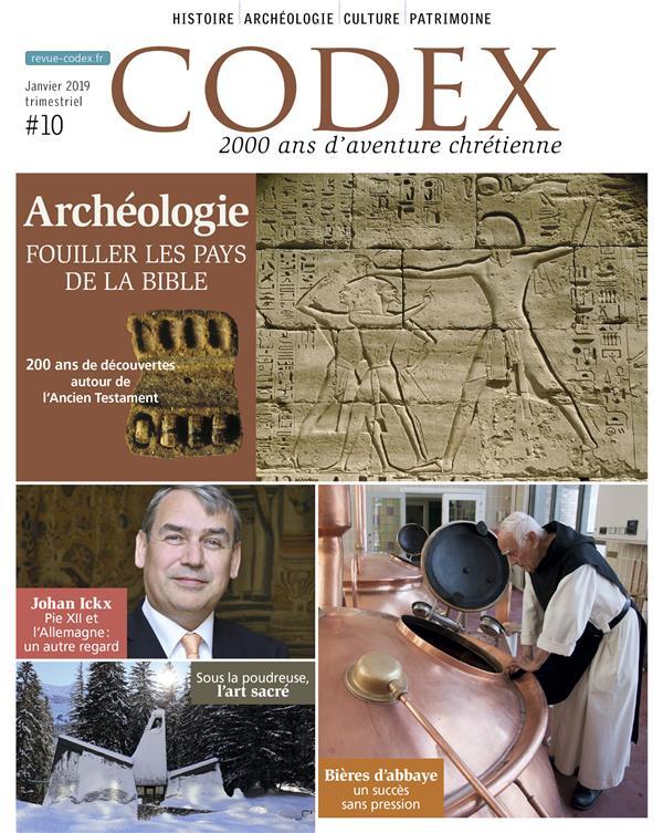 Codex n.10 ; l'archeologie biblique ; les grandes decouvertes