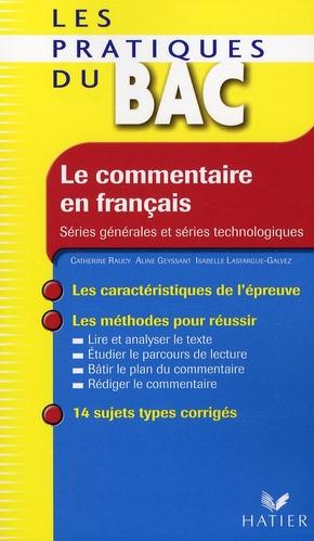 Le Commentaire En Francais
