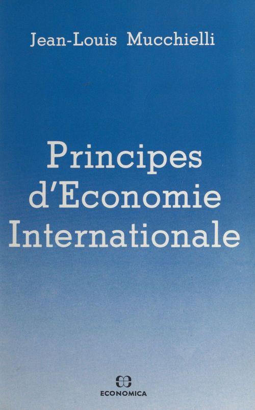 Principes d'economie internationale. 1. le commerce international
