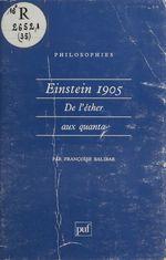 Vente EBooks : Einstein 1905  - Françoise Balibar