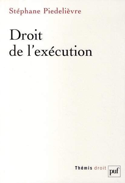 Droit de l'exécution