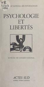 Vente EBooks : Psychologie et libertés  - Syndicat national des psychologues