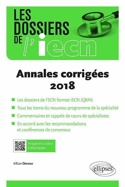 Annales corrigées (édition 2018)