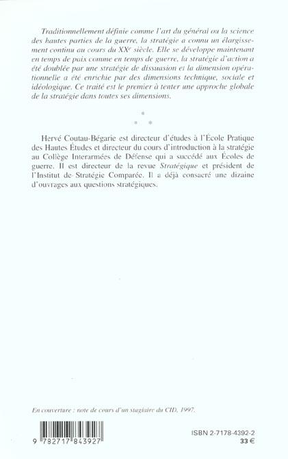 Traite de strategie ; 3e edition