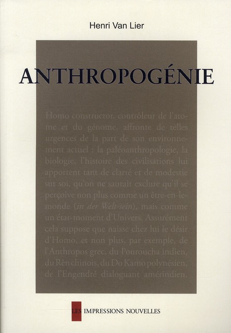 Anthropogénie