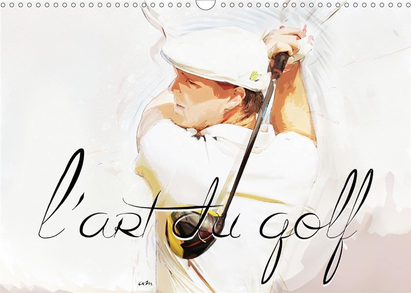 L'art du golf (calendrier mural 2020 din a3 horizontal) - serie de 12 tableaux, creations originales