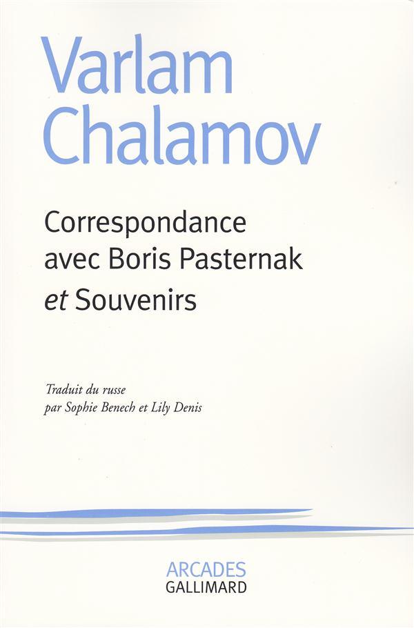 Correspondance avec boris pasternak / souvenirs