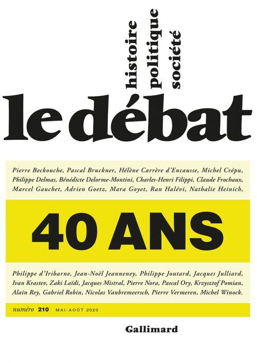 Revue Le Débat ; 40 ans
