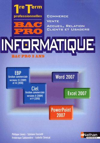 Informatique 1e/Term Bpro (V/C
