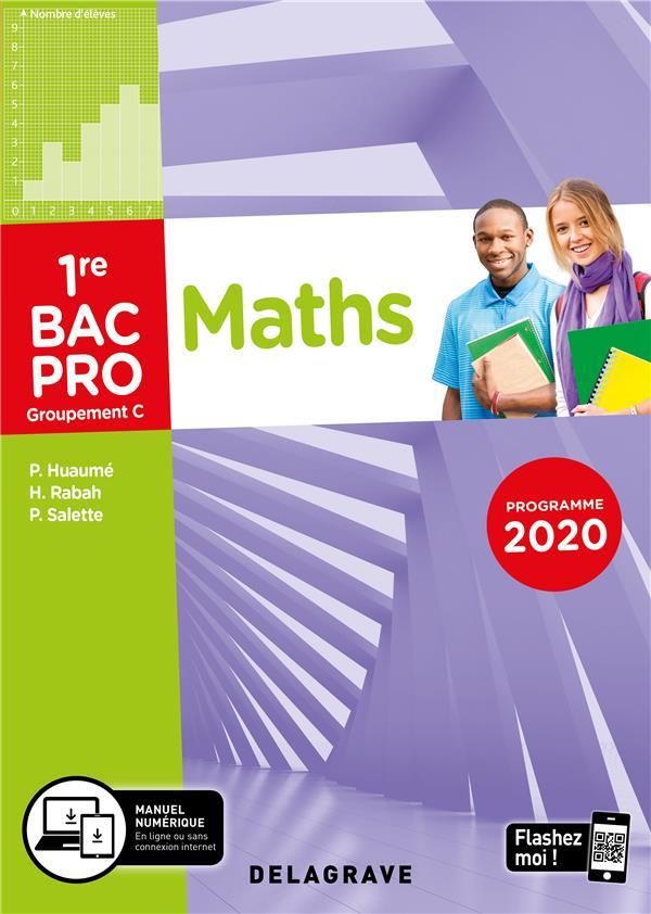Mathématiques - groupement C ; 1re bac pro ; pochette élève (édition 2020)