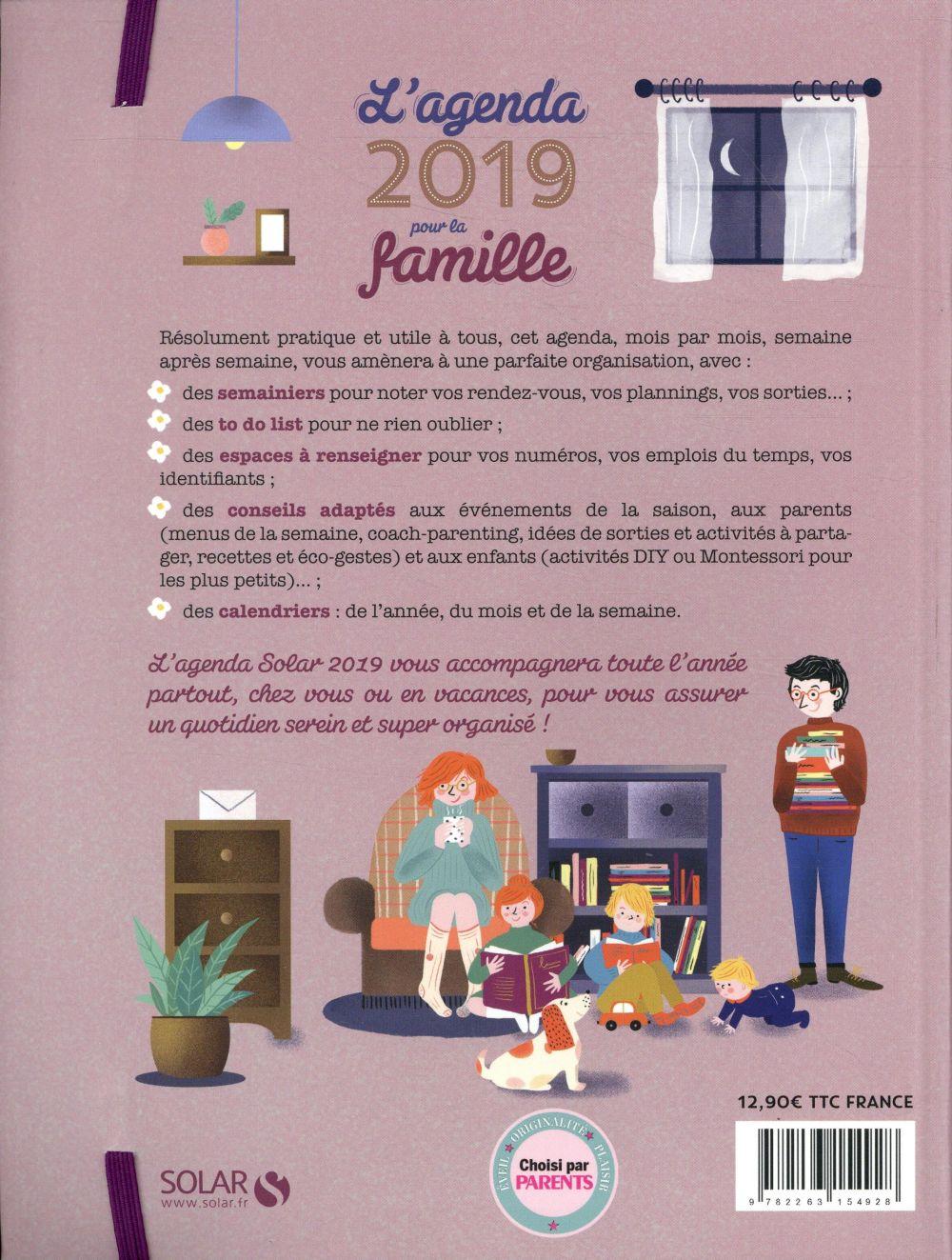L'agenda solar pour la famille (édition 2019)