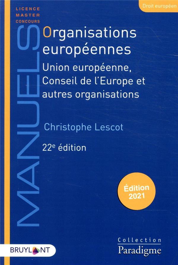 Organisations européennes (22e édition)
