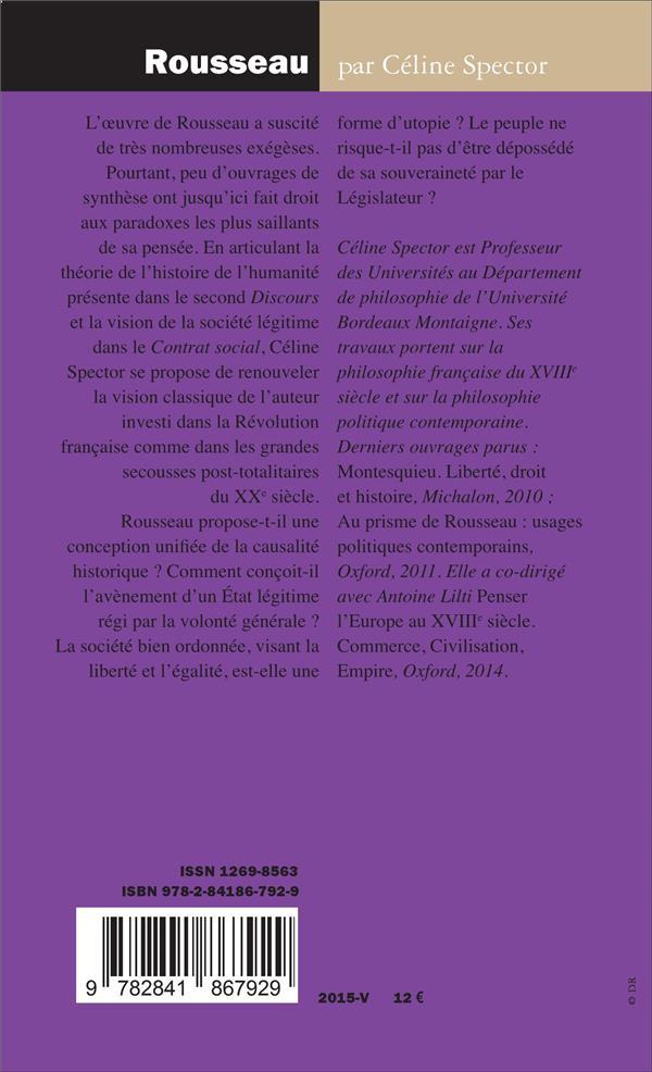 Rousseau ; les paradoxes de l'autonomie démocratique