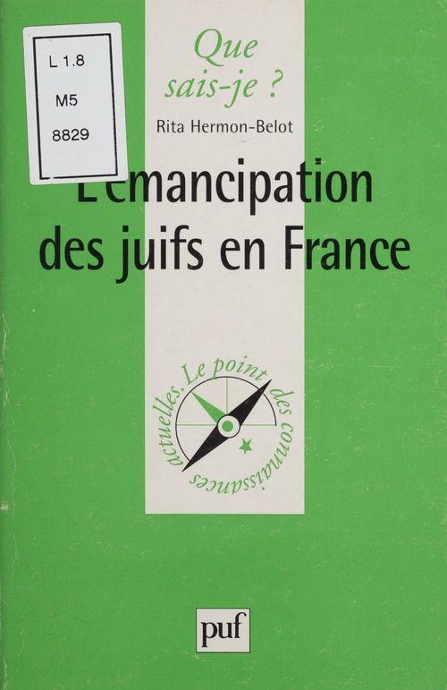Iad - l'emancipation des juifs en france qsj 3514
