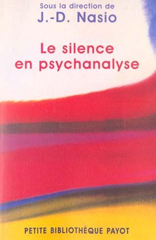 Le Silence En Psychanalyse
