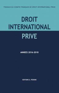 Droit international privé ; années 2016-2018
