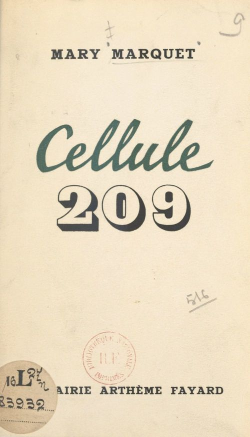 Cellule 209  - Mary Marquet