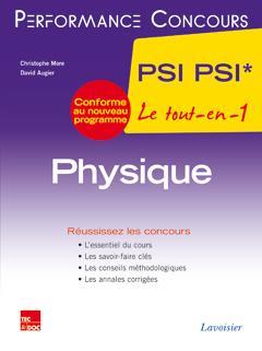 PERFORMANCE CONCOURS ; physique ; 2e année PSI PSI