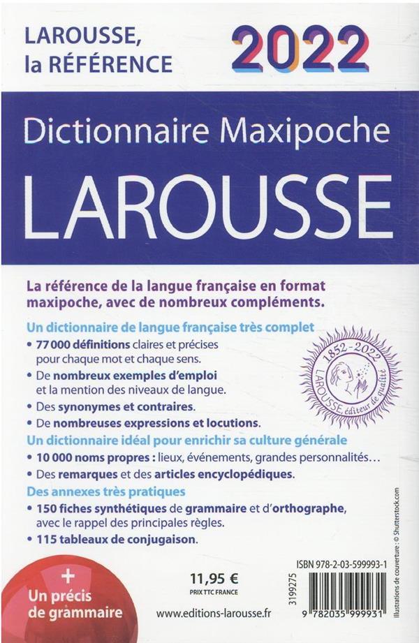 Dictionnaire maxipoche Larousse (édition 2022)