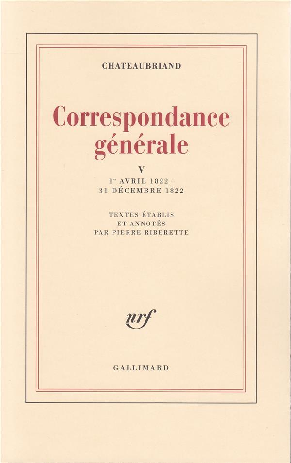 Correspondance générale t.5