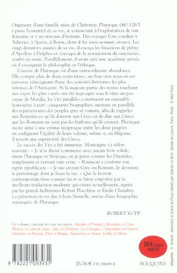 Plutarque - vies paralleles ii - vol02