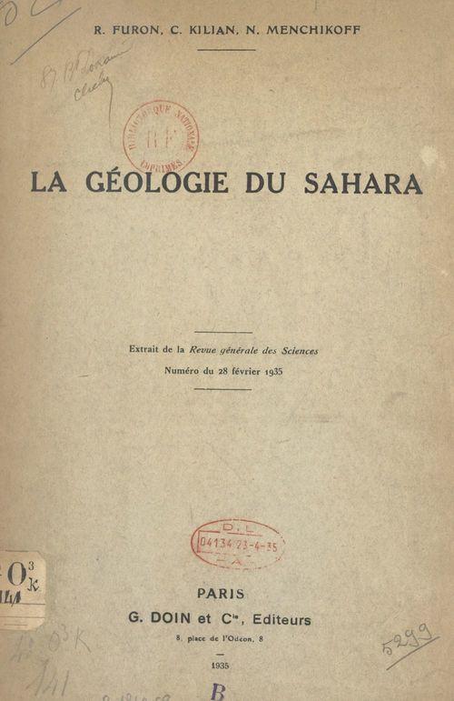 La géologie du Sahara