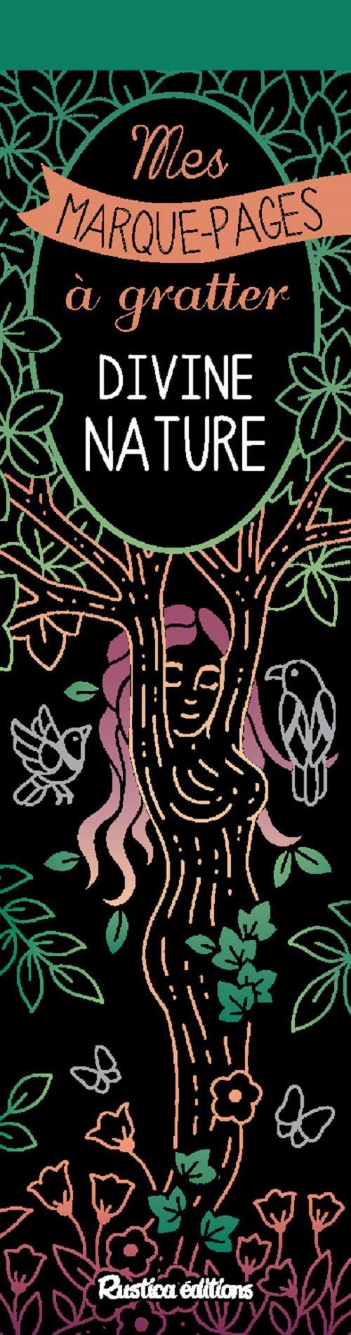 Mes marques-pages à gratter ; divine nature