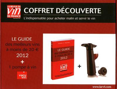 Coffret dégustation La Revue du vin de France ; guide rouge (édition 2012)