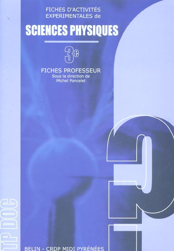 Tp Doc Sciences Physique 3eme Livre Du Professeur