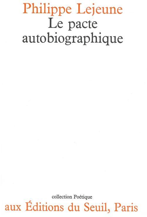 REVUE POETIQUE ; le pacte autobiographique