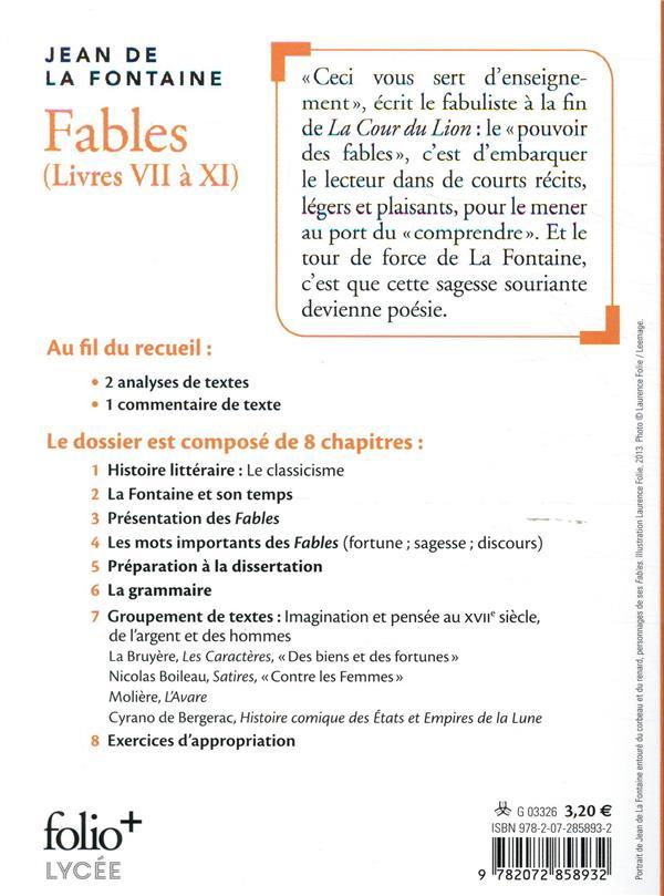 Fables, livres VII à XI