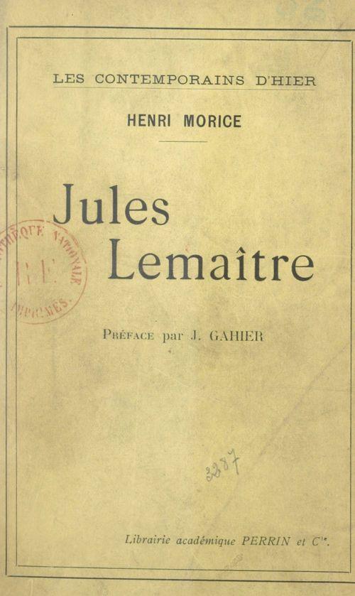 Jules Lemaître