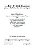 Vente Livre Numérique : L´affaire Cotillot-Blanchard  - Ouvrage COLLECTIF